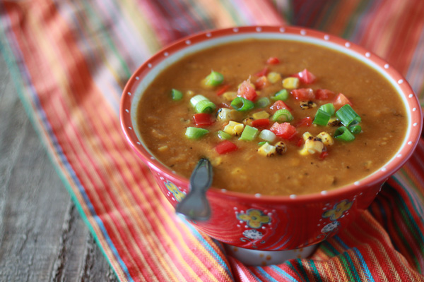 Slow Cooker Corn & Red Pepper Chowder