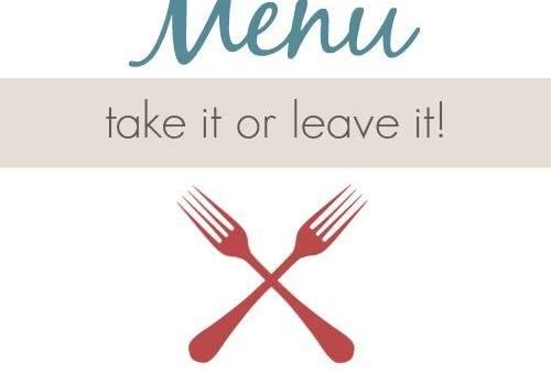 Mom's Test Kitchen Weekly Menu Plan