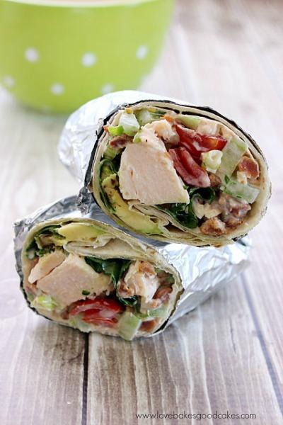 BLAT Chicken Salad Wraps