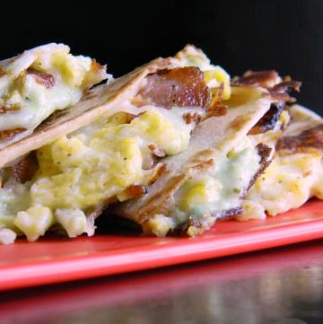 Avocado Ranch Breakfast Quesadillas | MomsTestKitchen.com | #PackedwithSavings #CBias #ad