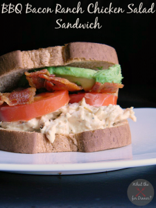 BBQ Bacon Ranch Chicken Salad Sandwiches | MomsTestKitchen.com | #ad #BaconMonth #PutSomePigInIt