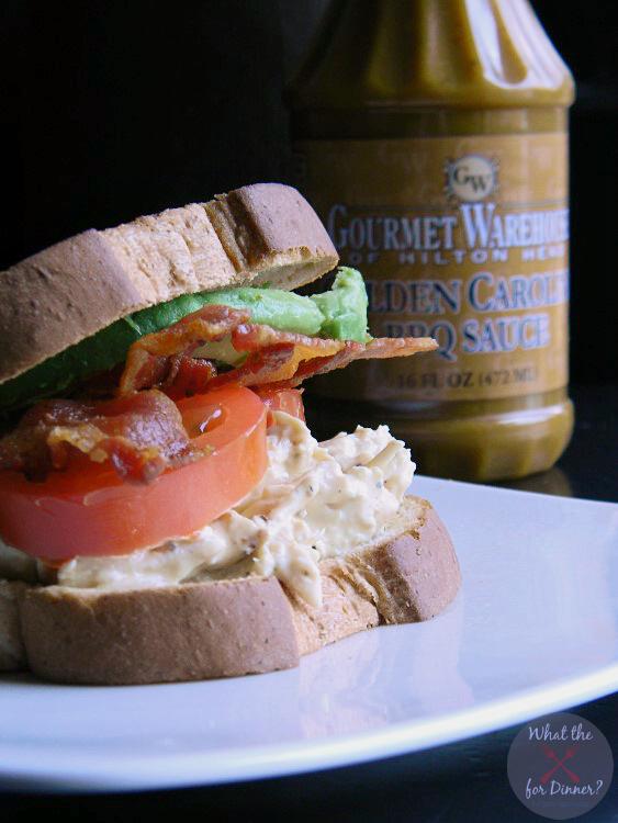BBQ Bacon Ranch Chicken Salad Sandwiches   MomsTestKitchen.com   #ad #BaconMonth #PutSomePigInIt