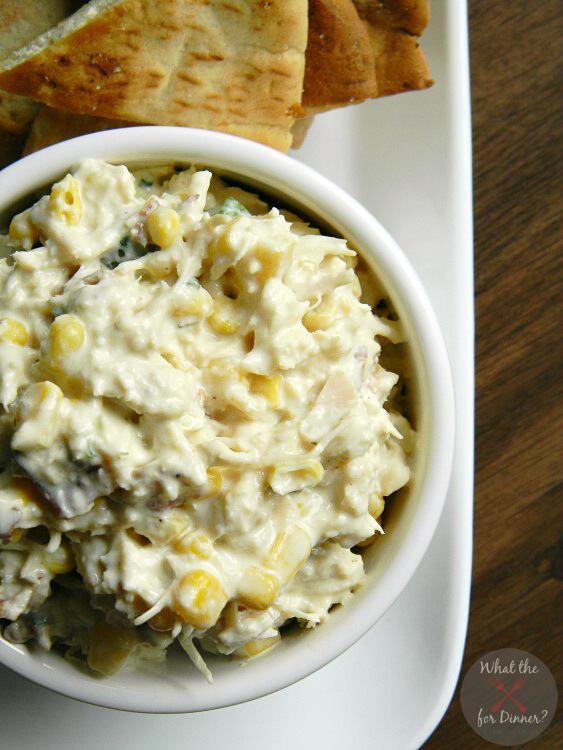 Bacon & Corn Chicken Salad | MomsTestKitchen.com | #BaconMonth #PutSomePigInIt