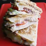 Creamy Avocado Tuna Melt Quesadillas | MomsTestKitchen.com | #BumbleBeeB2S