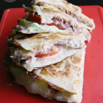 Creamy Avocado Tuna Melt Quesadillas | MomsTestKitchen.com | #BumbleBeeB2S
