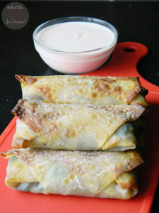 Baked-Vegetable-Eggrolls-Spicy-Dipping-Sauce
