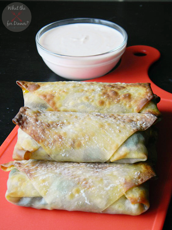 Baked Vegetable Eggrolls with Spicy Sriracha Dipping Sauce
