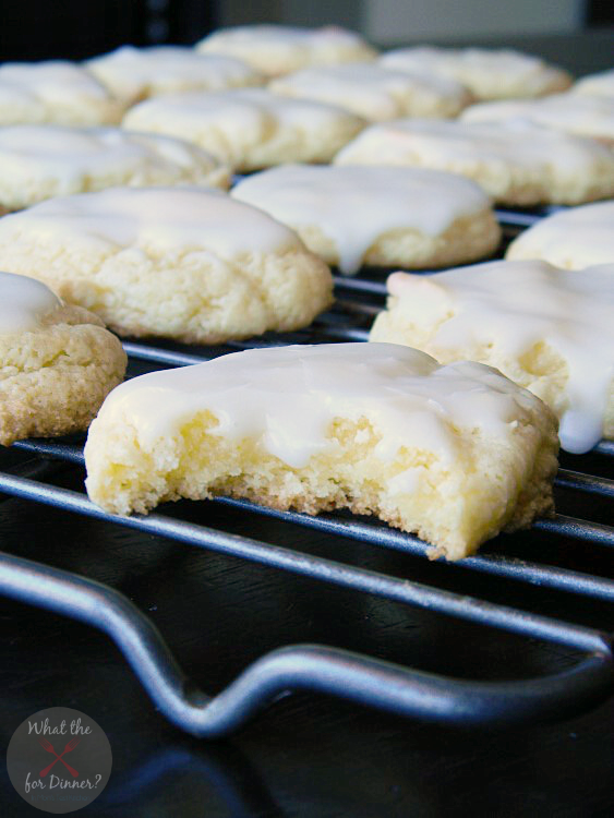Almond Cake Cookies with Cinnamon Spice Glaze | MomsTestKitchen.com