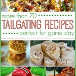 Are you ready for some football?! This round-up includes more than 70 Tailgating Recipes that will make you a rockstar at your next football party! #football #tailgating #appetizers