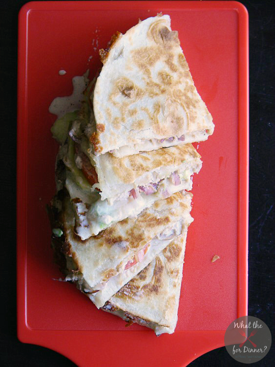 Avocado Tuna Melt Quesadillas | MomsTestKitchen.com | #BumbleBeeB2S