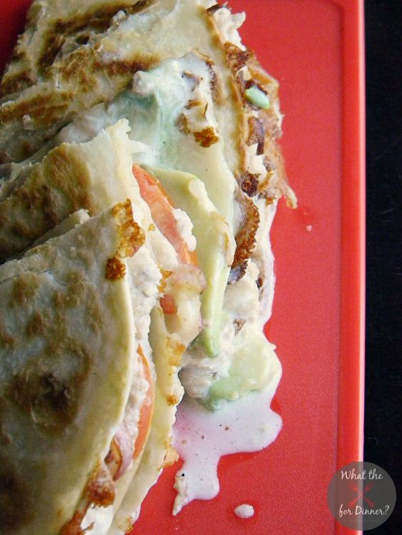 Easy Avocado Tuna Melt Quesadillas | MomsTestKitchen.com | #BumbleBeeB2S