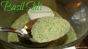 Basil Salt from Juggling Act Mama