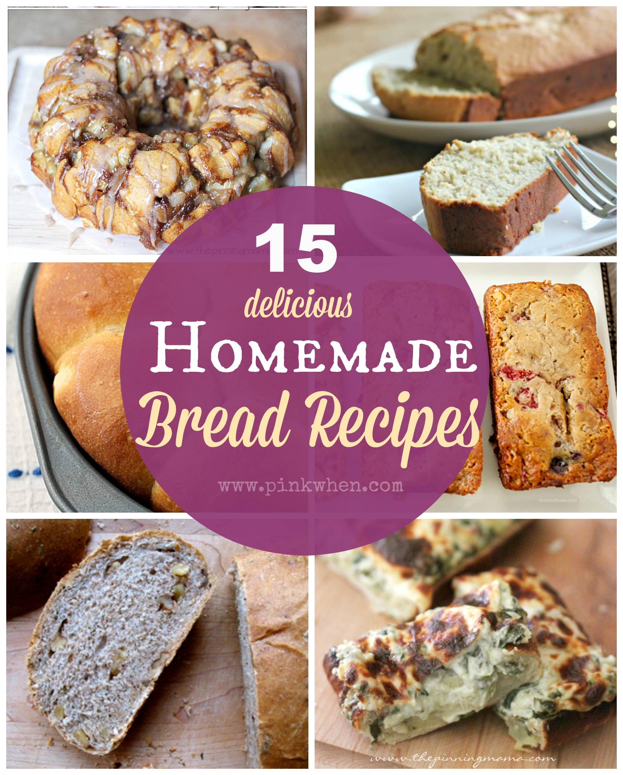 15-delicious-Homemade-Bread-Recipes-via-PinkWhen.com_