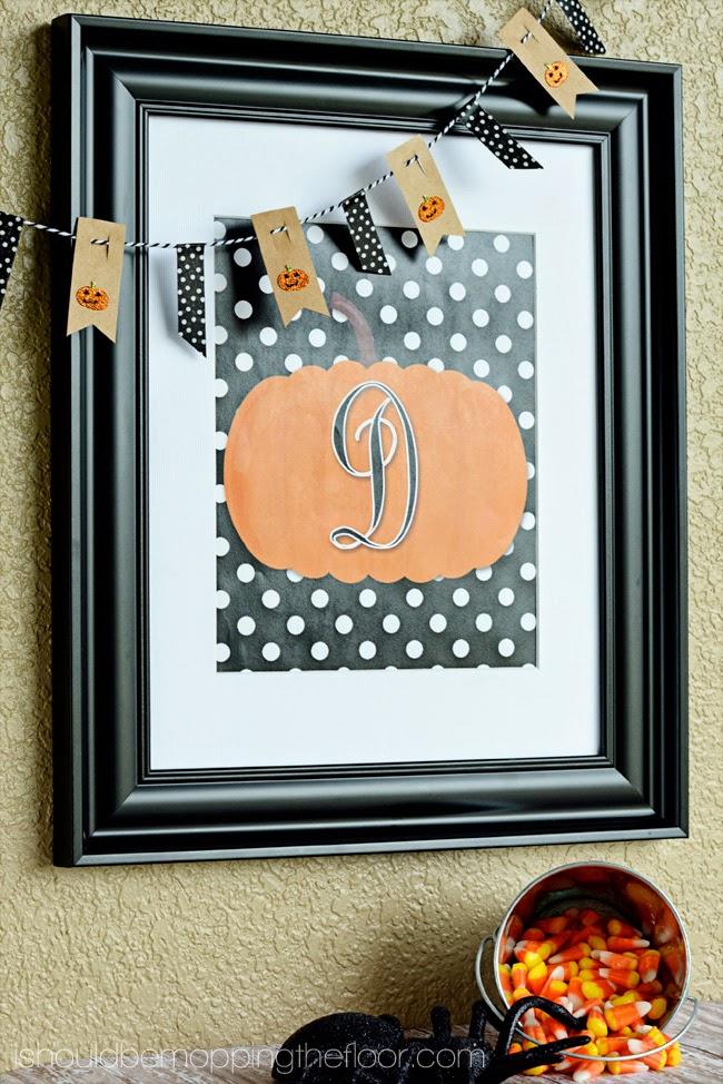 Free Monogram Pumpkin Printables