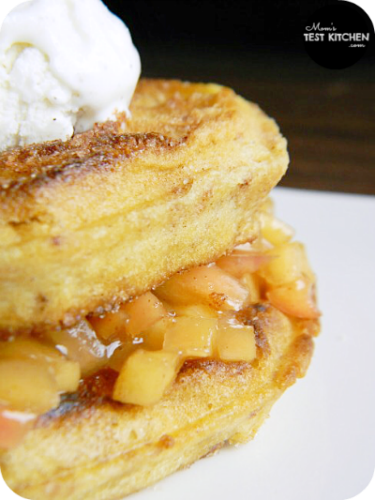 Apple Pie Stuffed Cinnamon Sugar Waffles
