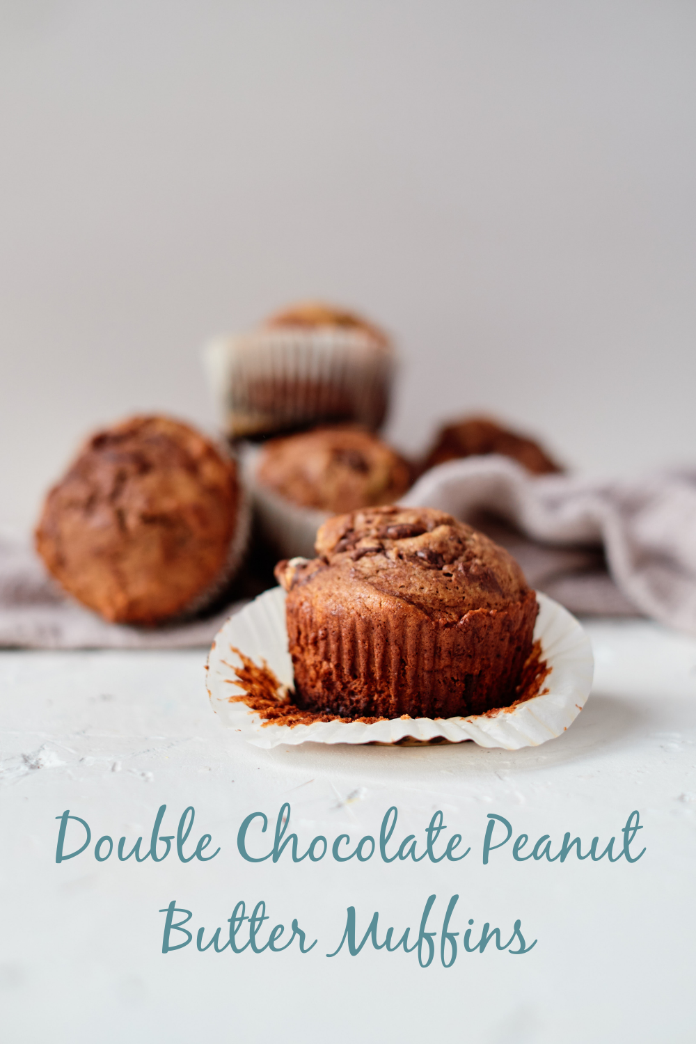 Delicious, easy, and the ultimate muffin indulgence, these Double Chocolate Peanut Butter Muffins are the perfect option for a quick breakfast or afternoon snack!
