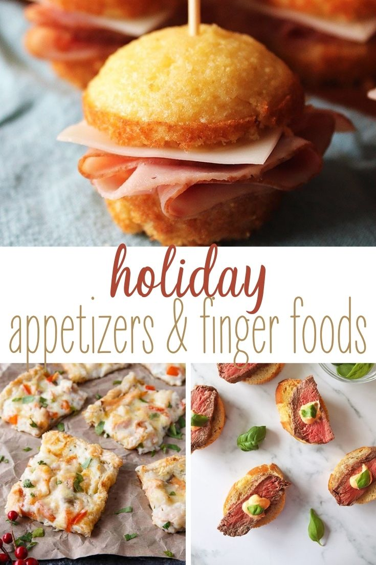 Holiday Party Appetizers Pinterest Collage