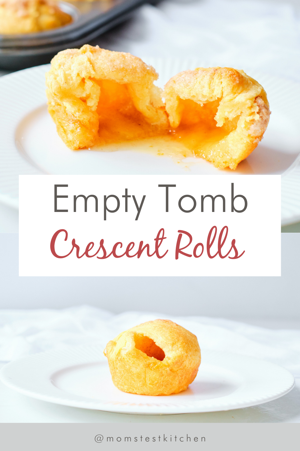 Empty Tomb Crescent Rolls AKA Resurrection Rolls is the perfect recipe for Easter. Easy cinnamon-sugar coated crescent rolls filled with a gooey,melting marshmallow inside makes a great object lesson for kids, teaching the true meaning of Easter.